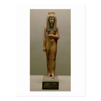 The divine queen Ahmose Nefertari (painted wood) Postcard