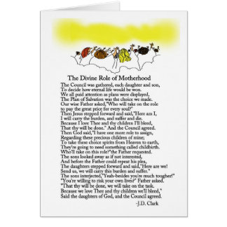 The Divine Role of Motherhood Card