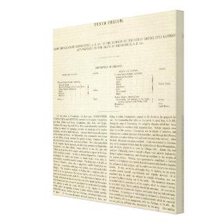 The Division of The Roman Empire 395 AD 2 Canvas Print