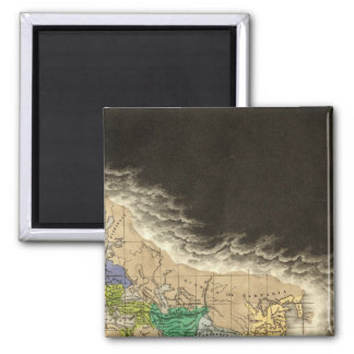 The Division of The Roman Empire 395 AD 2 Inch Square Magnet