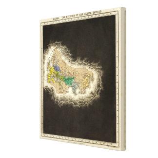 The Division of The Roman Empire 395 AD Canvas Print