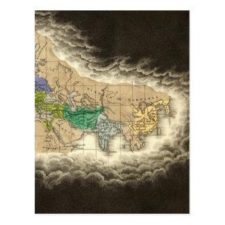 The Division of The Roman Empire 395 AD Postcard