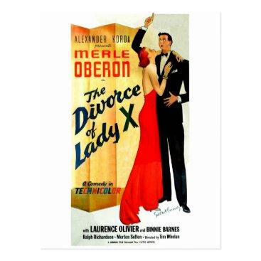 divorce The Divorce of Lady X Postcard