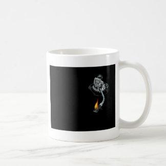 the dj arm on fire mugs