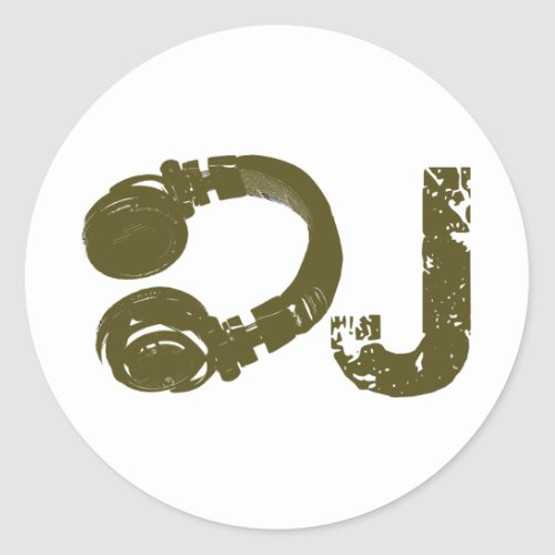 The DJ list Classic Round Sticker