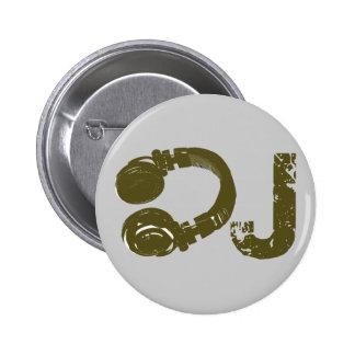 The DJ list Pinback Button