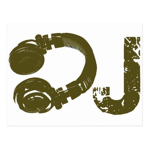 The DJ list Postcard