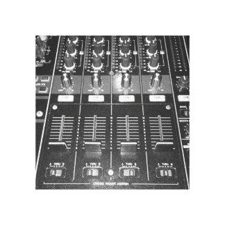 The DJ Mixer Canvas Print