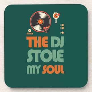 The DJ stole my soul Beverage Coaster