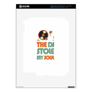 The DJ stole my soul iPad 3 Decals