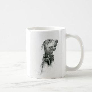 The Doberman magnetic cup Classic White Coffee Mug