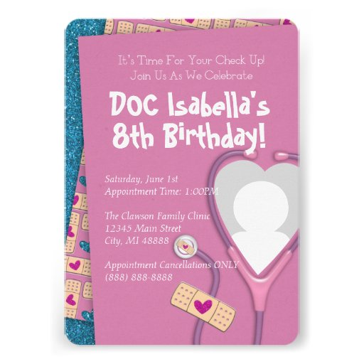 Personalized doc mcstuffins invitations custominvitations4u the doc is in birthday invitation stopboris Image collections