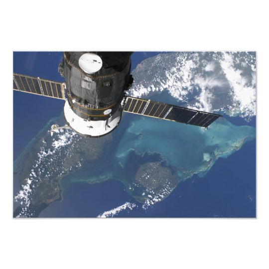 The docked Progress 22 spacecraft Photo Print