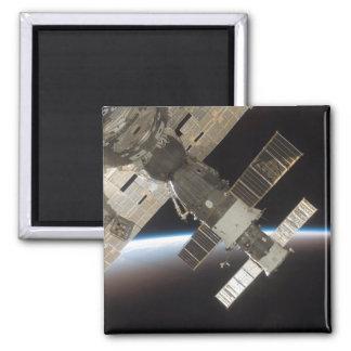 The docked Soyuz 13 2 Inch Square Magnet