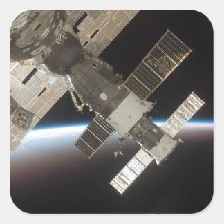 The docked Soyuz 13 Square Sticker