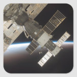 The docked Soyuz 13 Square Stickers