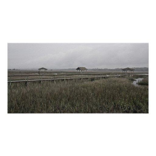 The Docks at Pawleys Island, SC - Scene 6 Customized Photo Card