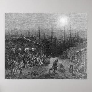 The Docks Night Scene Poster
