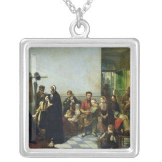 The Doctor for the Poor Square Pendant Necklace