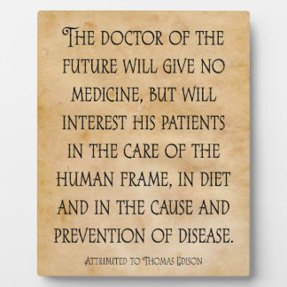 The Doctor of the Future Chiropractic Quote Plaque
