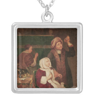 The Doctor's Visit Silver Plated Necklace
