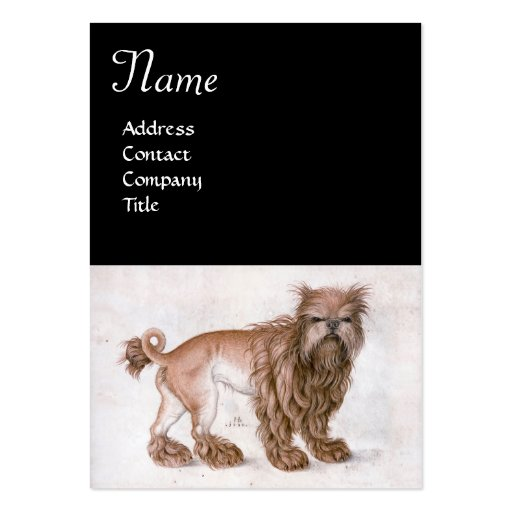 THE DOG / Affenpinscher ,black white Business Card Templates