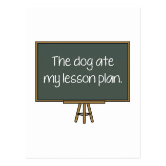 The Dog Ate My Lesson Plan Post Cards