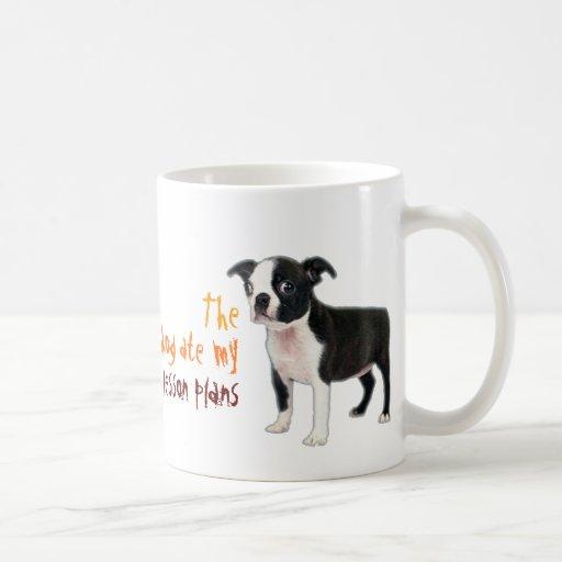 The dog ate my lesson plans coffee mug