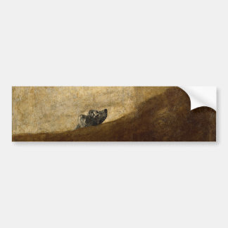 The Dog (Black Paintings) by Francisco Goya 1820 Bumper Sticker