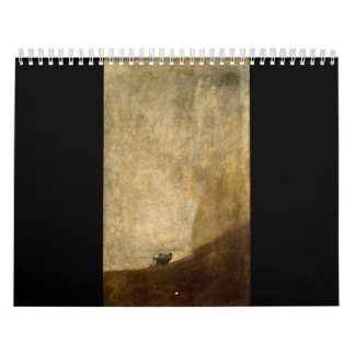 The Dog (Black Paintings) by Francisco Goya 1820 Calendar