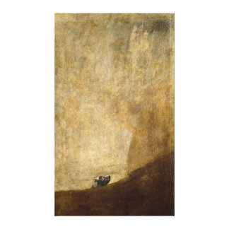 The Dog (Black Paintings) by Francisco Goya 1820 Canvas Print
