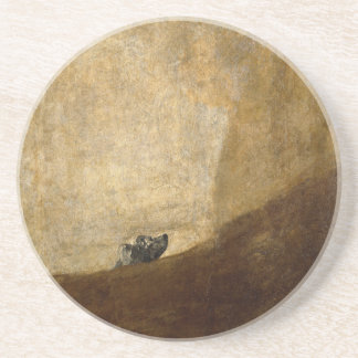 The Dog (Black Paintings) by Francisco Goya 1820 Beverage Coaster