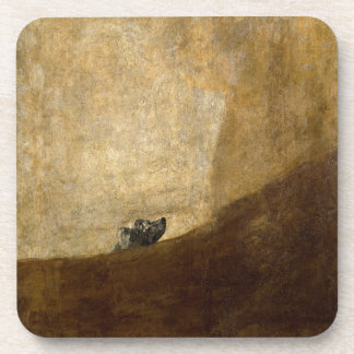 The Dog (Black Paintings) by Francisco Goya 1820 Coaster