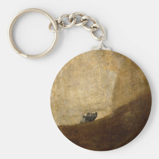 The Dog (Black Paintings) by Francisco Goya 1820 Keychain