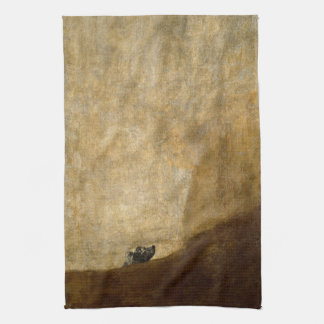 The Dog (Black Paintings) by Francisco Goya 1820 Hand Towels