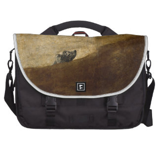 The Dog (Black Paintings) by Francisco Goya 1820 Laptop Commuter Bag