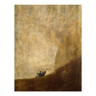 The Dog (Black Paintings) by Francisco Goya 1820 Customized Letterhead