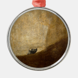 The Dog (Black Paintings) by Francisco Goya 1820 Metal Ornament
