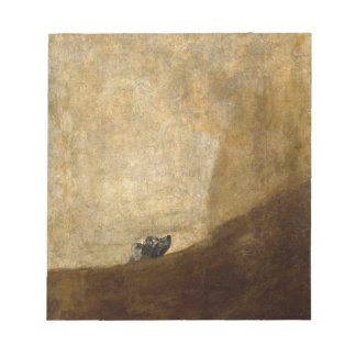The Dog (Black Paintings) by Francisco Goya 1820 Memo Pad