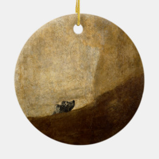 The Dog (Black Paintings) by Francisco Goya 1820 Christmas Tree Ornaments