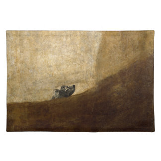 The Dog (Black Paintings) by Francisco Goya 1820 Place Mats