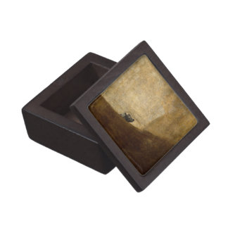 The Dog (Black Paintings) by Francisco Goya 1820 Premium Jewelry Boxes