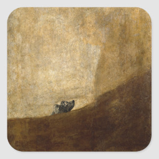 The Dog (Black Paintings) by Francisco Goya 1820 Square Sticker