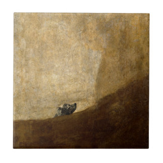 The Dog (Black Paintings) by Francisco Goya 1820 Tile