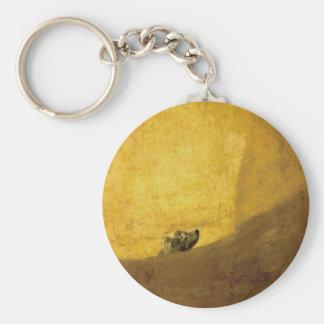 The Dog, by Francisco de Goya Key Chains