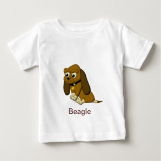 The Dog Cartoon Animated Beagle Baby T-Shirt