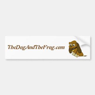 The Dog Cartoon Animated Beagle Bumper Sticker