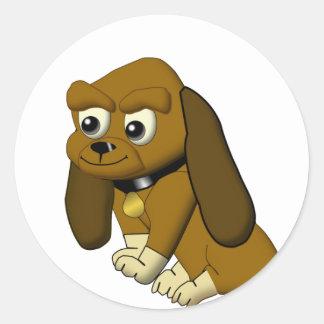 The Dog Cartoon Animated Beagle Classic Round Sticker