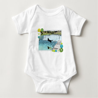 The Dog Days of Summer at the Lake Baby Bodysuit