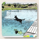 The Dog Days of Summer at the Lake Drink Coaster
